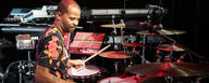 John Roberts with his Beat Kit Pro 7 professional performance and studio Kit